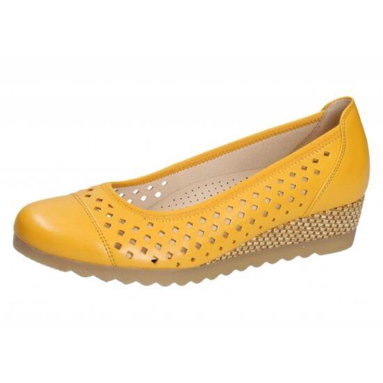 Gabor sárga lyukacsos balerina cipő