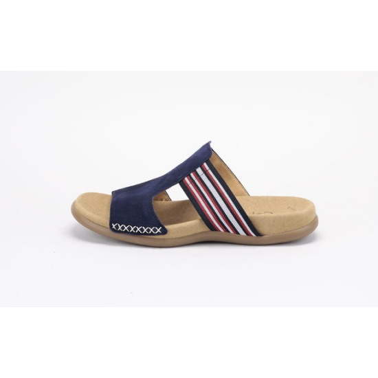 Gabor kék-piros  papucs