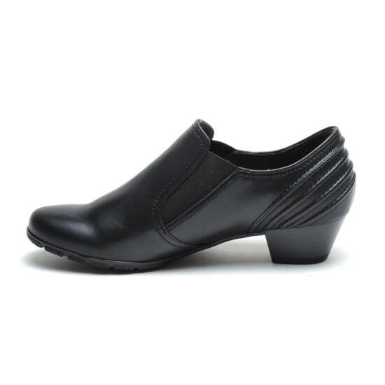 Gabor fekete női cipő hátul varrással díszítve
