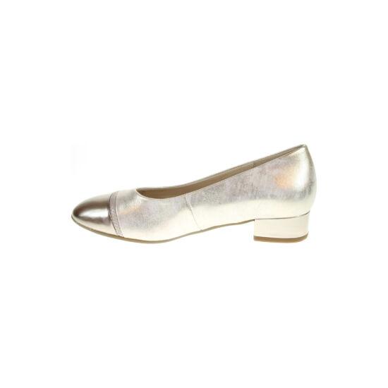 Gabor arany balerina cipő fémes orrésszel és sarokkal