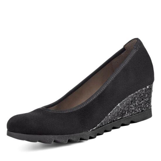 Gabor fekete telitalpú cipő csillogó talprésszel
