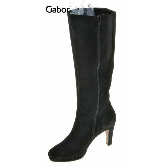 Gabor fekete női velúr csizma