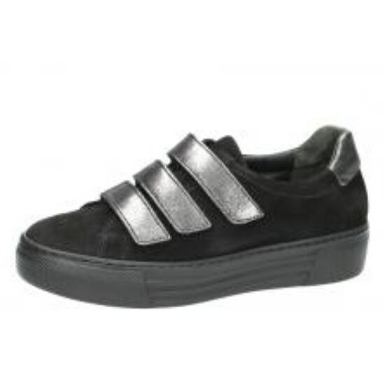 Gabor fekete cipő ezüst tépőzárakkal