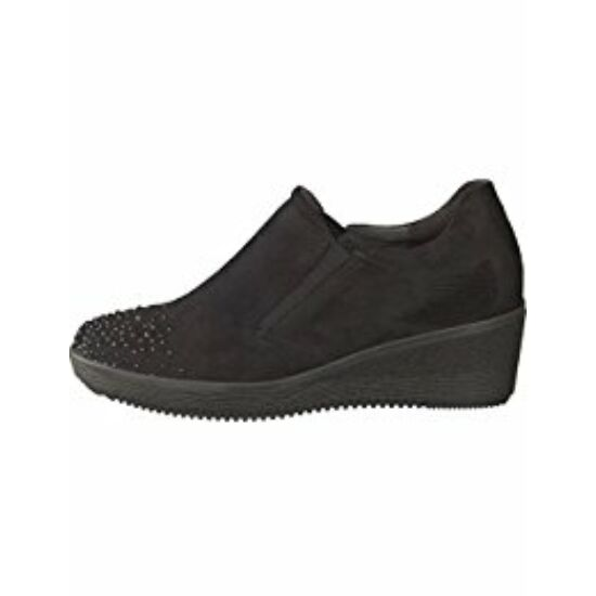 Gabor fekete telitalpú cipő köves díszítéssel