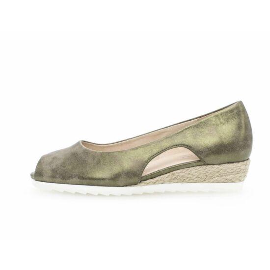 Gabor fémesen csillogő zöld nyári cipő