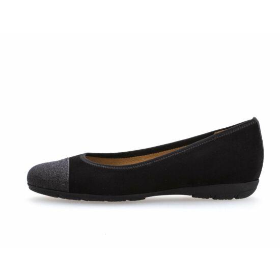 Gabor fekete balerina cipő csillogó orral