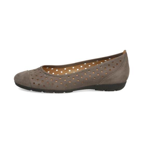Gabor beige lyukacsos balerina cipő