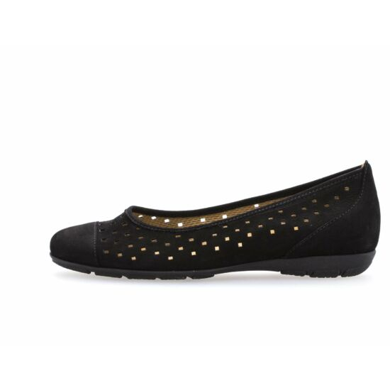 Gabor fekete lyukacsos balerina cipő