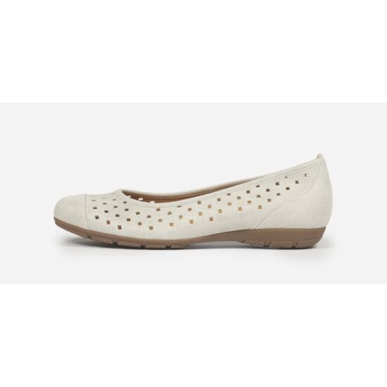 Gabor ezüstösen csillámló lyukacsos balerina cipő