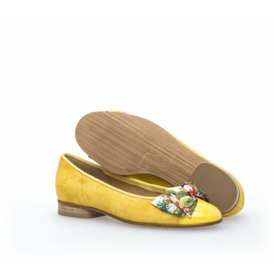 Gabor sárga masnis balerina cipő