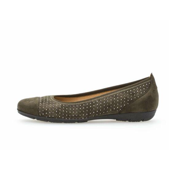 Gabor sötétzöld balerina cipő