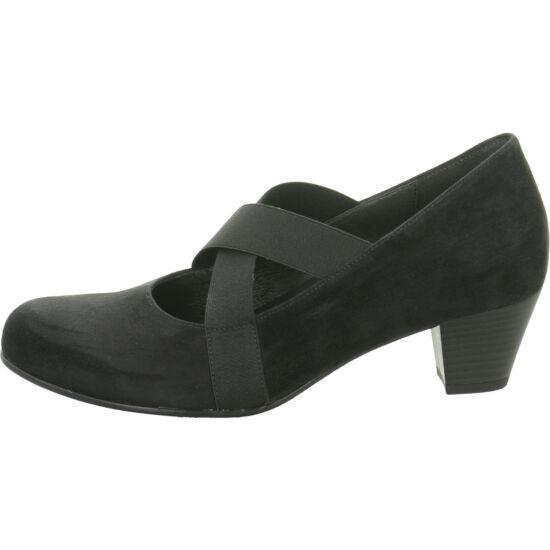 """Gabor fekete keresztpántos cipő """"H"""" szélesség"""
