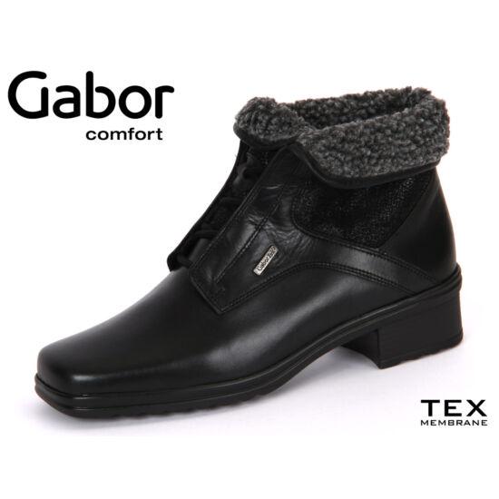 Gabor fekete magas szárú cipő Gabor TEX