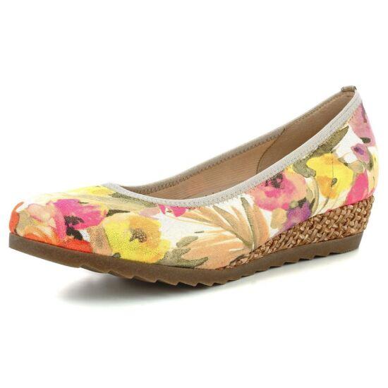 Gabor virágmintás telitalpú cipő