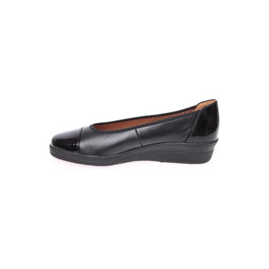 Gabor fekete cipő lakk betétekkel