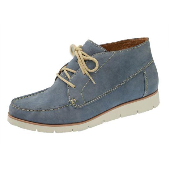 Gabor kék női boka cipő fehér talppal