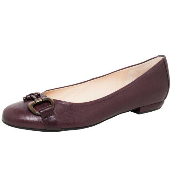 Högl bordó csatos balerina cipő