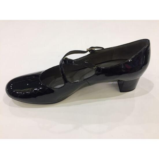 Högl fekete keresztpántos alkalmi cipő