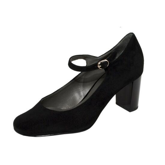 Högl fekete pántos alkalmi cipő
