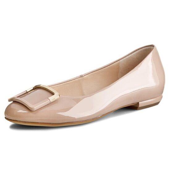 Högl beige csatos balerina cipő