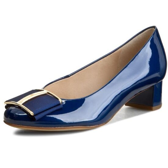 Högl kék masnis alkalmi cipő