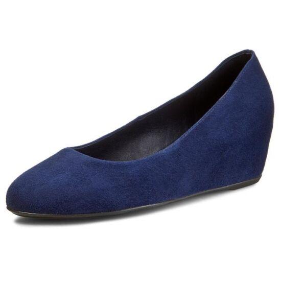 Högl kék telitalpú cipő