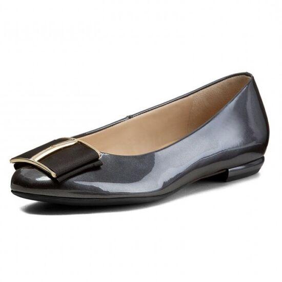 Högl sötétszürke csatos balerina cipő