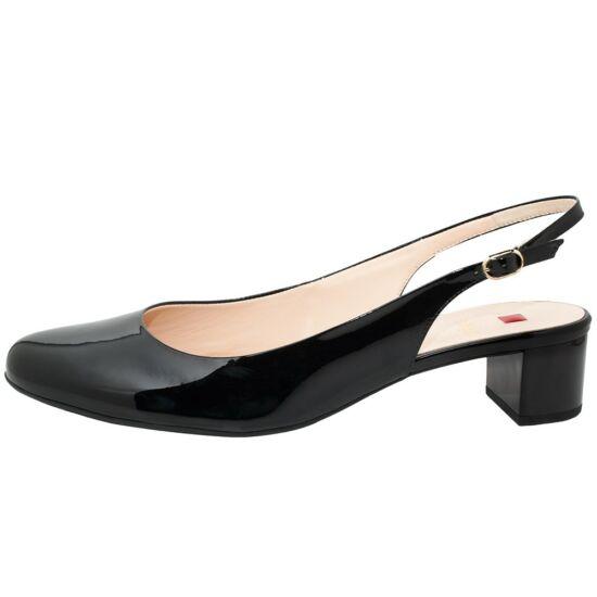 Högl fekete csatos alkalmi cipő