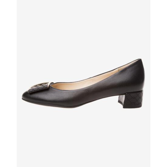 Högl fekete masnis alkalmi cipő