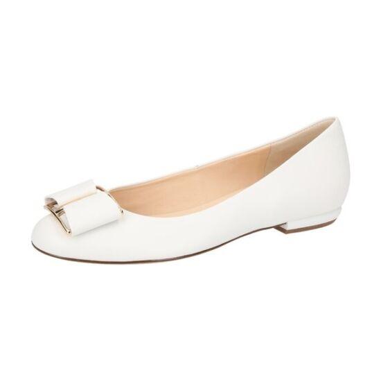 Högl fehér masnis balerina cipő