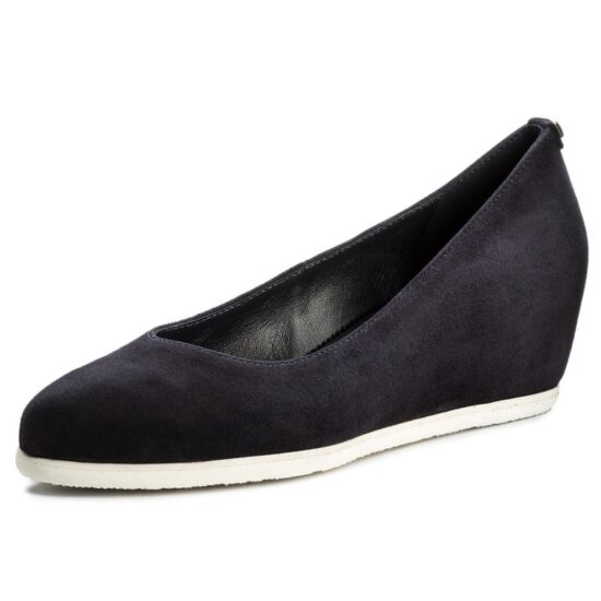 Högl sötétkék telitalpú cipő