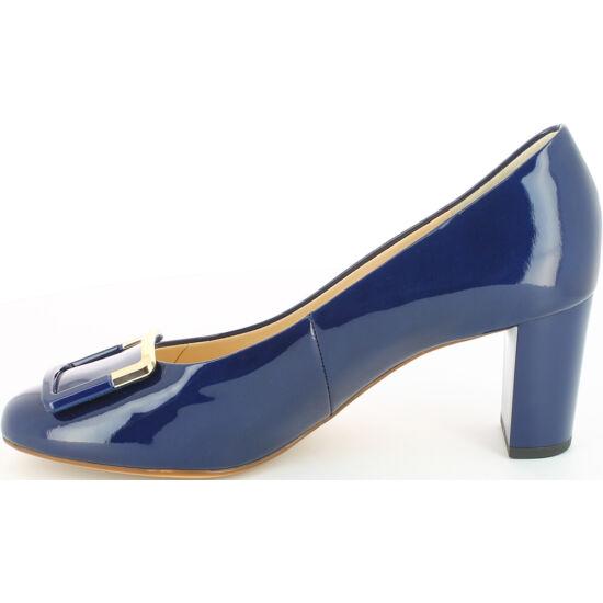 Högl kék csatos alkalmi cipő