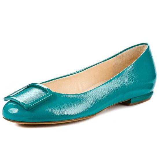 Högl türkiz csatos balerina cipő