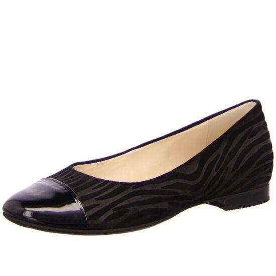 Högl fekete balerina cipő lakk orral
