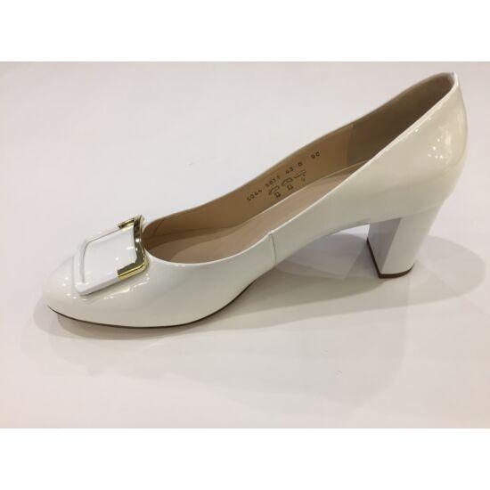 Högl fehér csatos alkalmi cipő