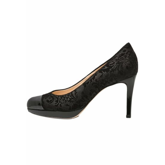 Högl fekete mintás alkalmi cipő