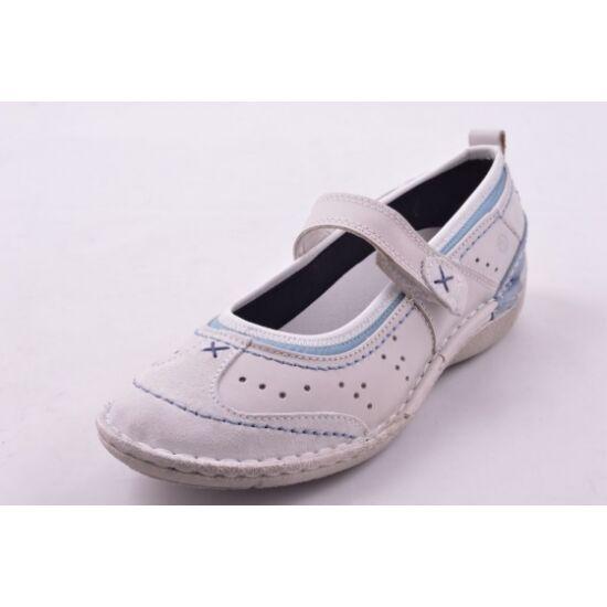 Josef Seibel fehér utcai női cipő kék varrással