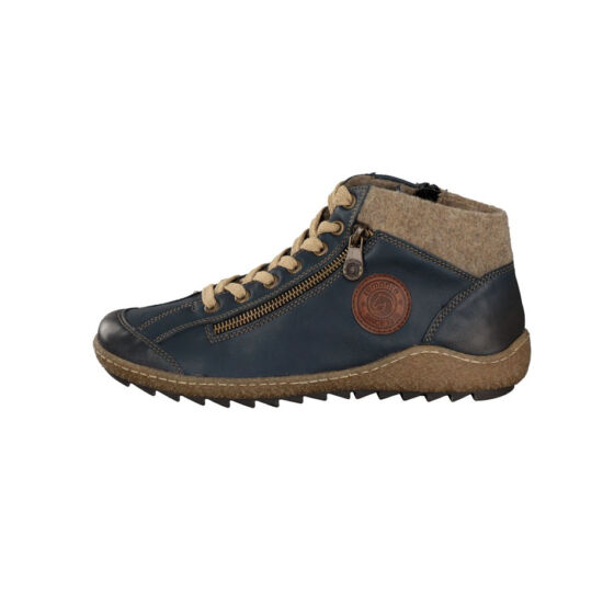 Remonte sötétkék magas szárú cipő cipzárral