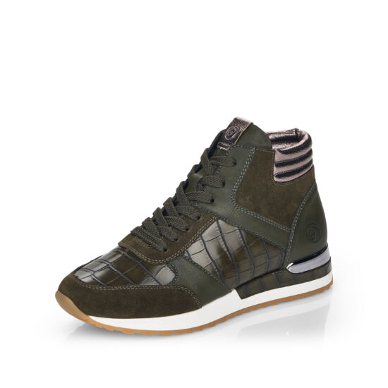 Remonte zöld kombi magasszárú sneaker