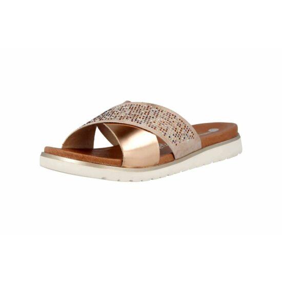 Remonte bronz papucs kövekkel