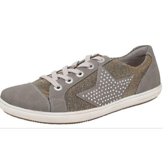 Remonte csillogó arany-ezüst cipő