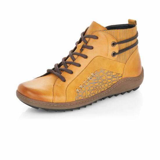 Remonte sárga magas szárú cipő