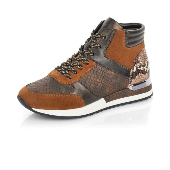 Remonte barna kombi magasszárú sneaker