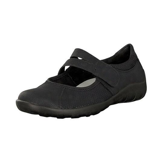 Remonte fekete pántos balerina cipő