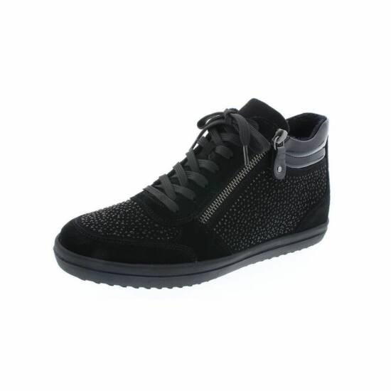 Remonte fekete női magas szárú cipő