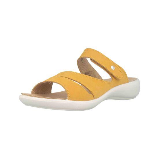 Romika sárga  tépőzáras papucs