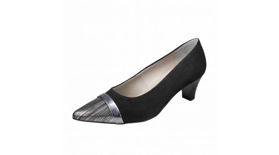 Ara fekete alkalmi cipő ezüst orral - 42 - Óriás-Shop nagyméretű ... 6c393336ab