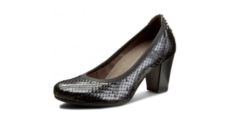 Gabor fekete pikkelyes női alkalmi cipő - 43 - Óriás-Shop nagyméretű ... ad2c393360