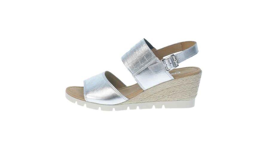 Gabor ezüst színű telitalpú szandál - 42 1 2 - Óriás-Shop nagyméretű ... 229ee3ed01