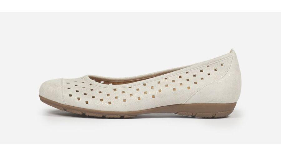 Gabor ezüstösen csillámló lyukacsos balerina cipő - 43 - Óriás-Shop ... c86726d7d8